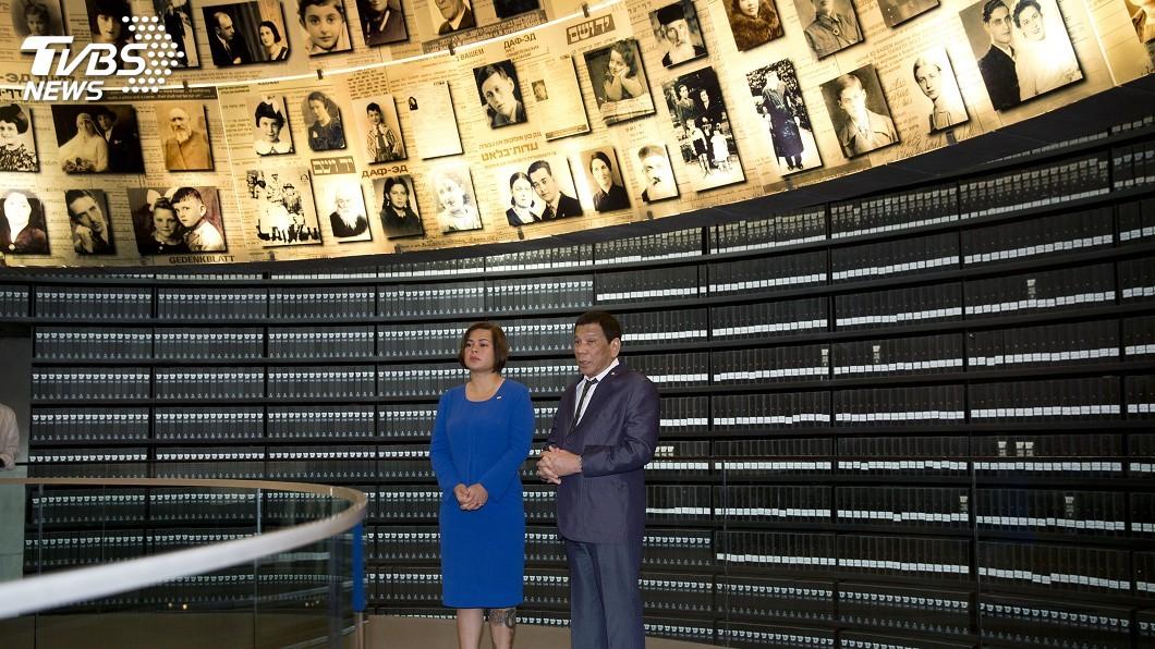 圖/達志影像美聯社 曾自比希特勒 杜特蒂訪猶太大屠殺紀念館引關注