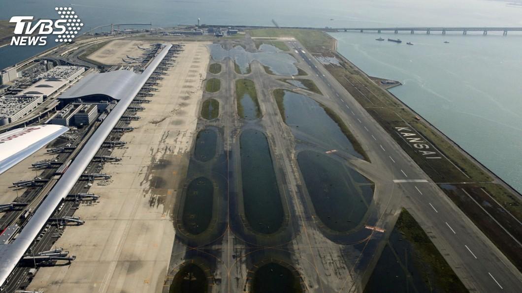 圖/達志影像路透社 燕子颱風襲日釀10死 關西機場成孤島