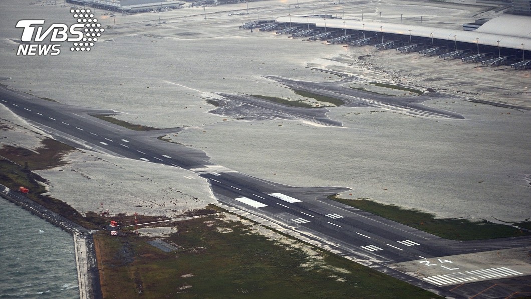 大阪關西國際機場。圖/達志影像美聯社 強颱重創!關西機場恐「長期關閉」 衝擊日本旅遊業