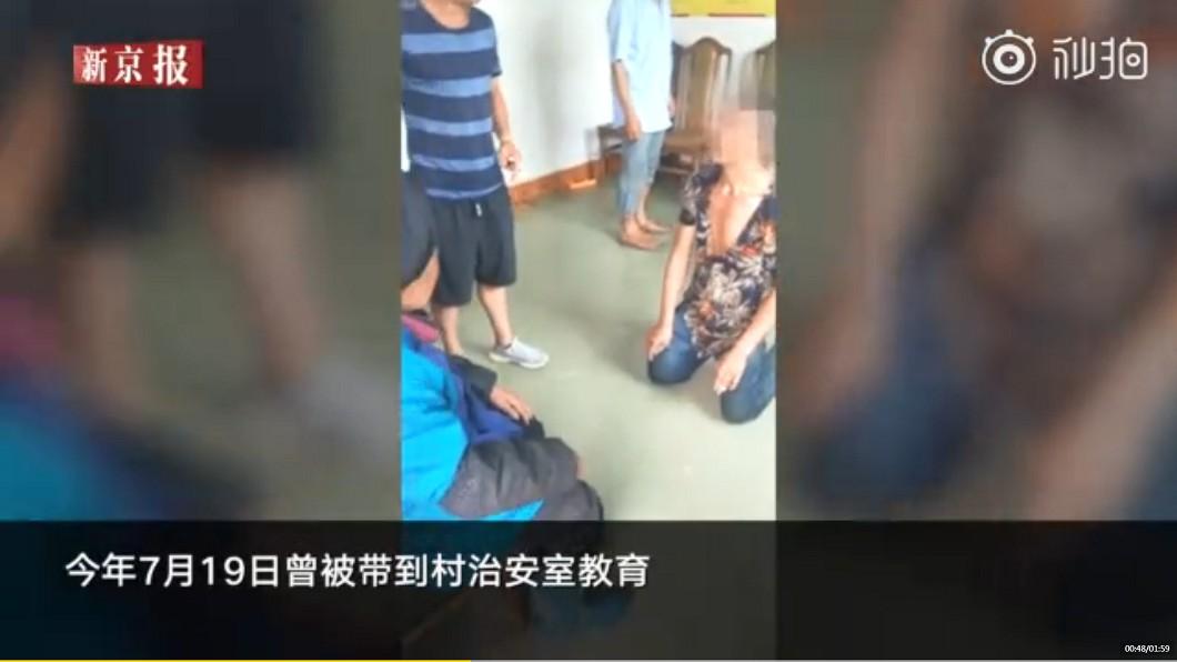 村長曾口頭教育男子,但過沒幾天又繼續對母親施暴。圖/翻攝自 秒拍
