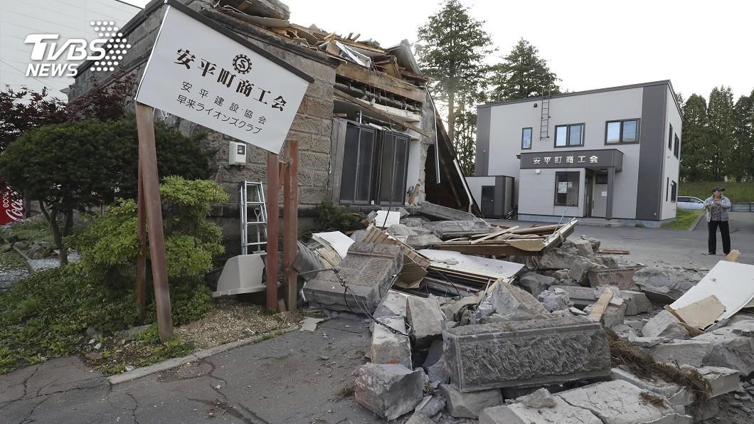 圖/達志影像路透社 北海道強震 氣象廳:未來數日恐有強烈餘震