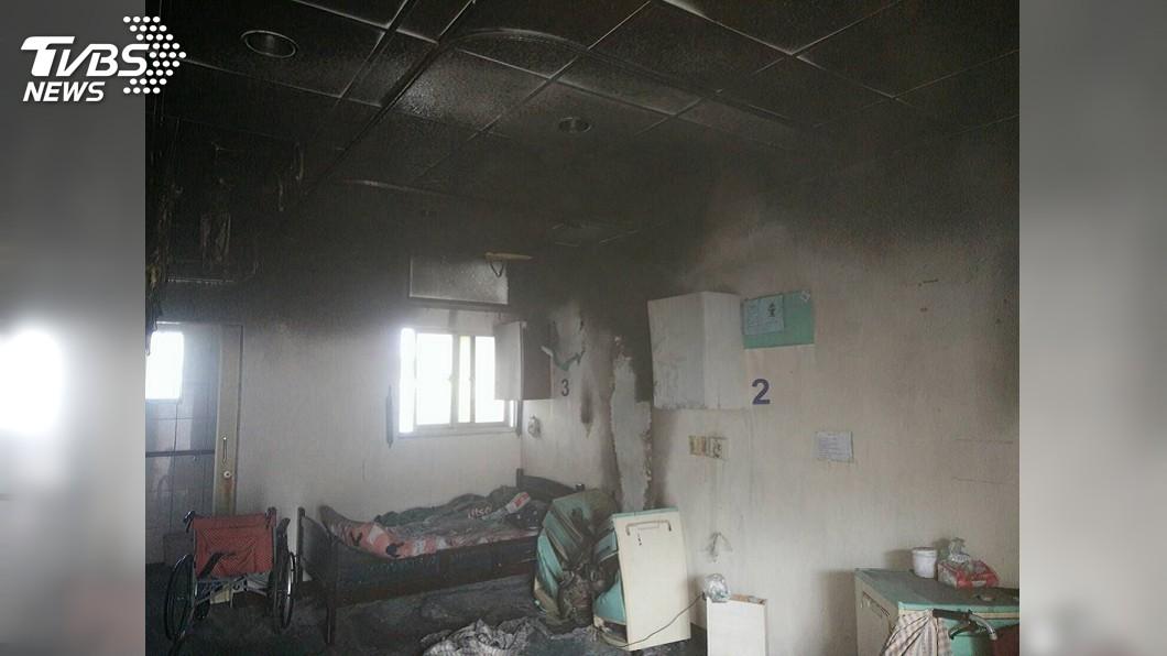 圖/中央社 澎湖慈安養護中心火警 65歲老翁灼傷送醫急救