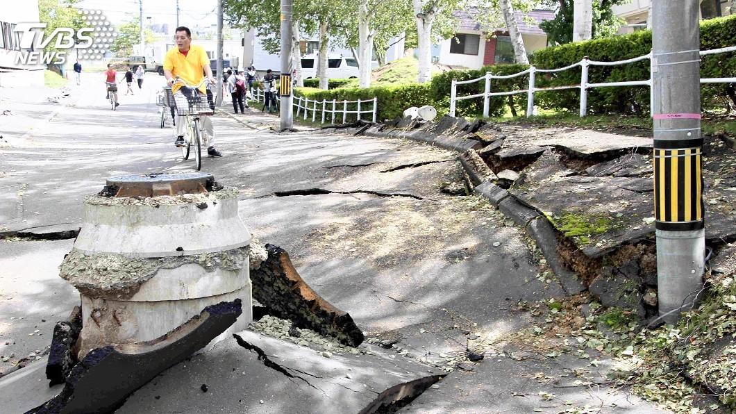 圖/達志影像美聯社 北海道強震釀死傷 內政部:已做好隨時救災準備