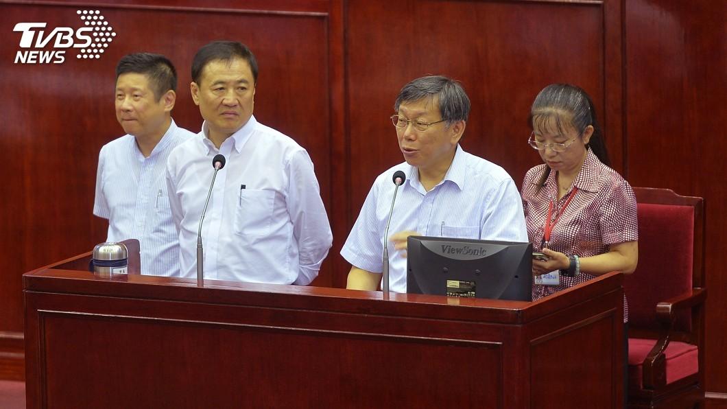 圖/中央社 拒向吳音寧道歉 柯文哲氣到爆粗口