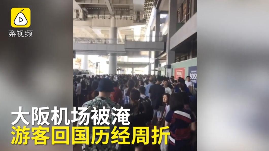 圖/翻攝自梨視頻 颱風天機票「貴10倍」飆到上萬 受困女大生當場嚇傻