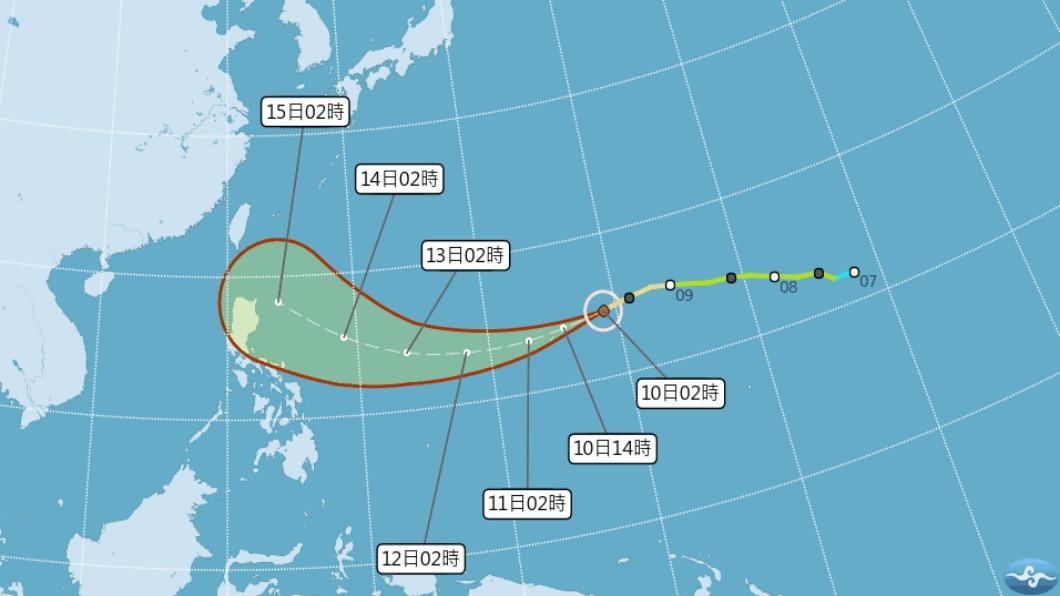 圖/翻攝自中央氣象局 山竹估明成強颱! 「恐雙颱擾台」將速發海警
