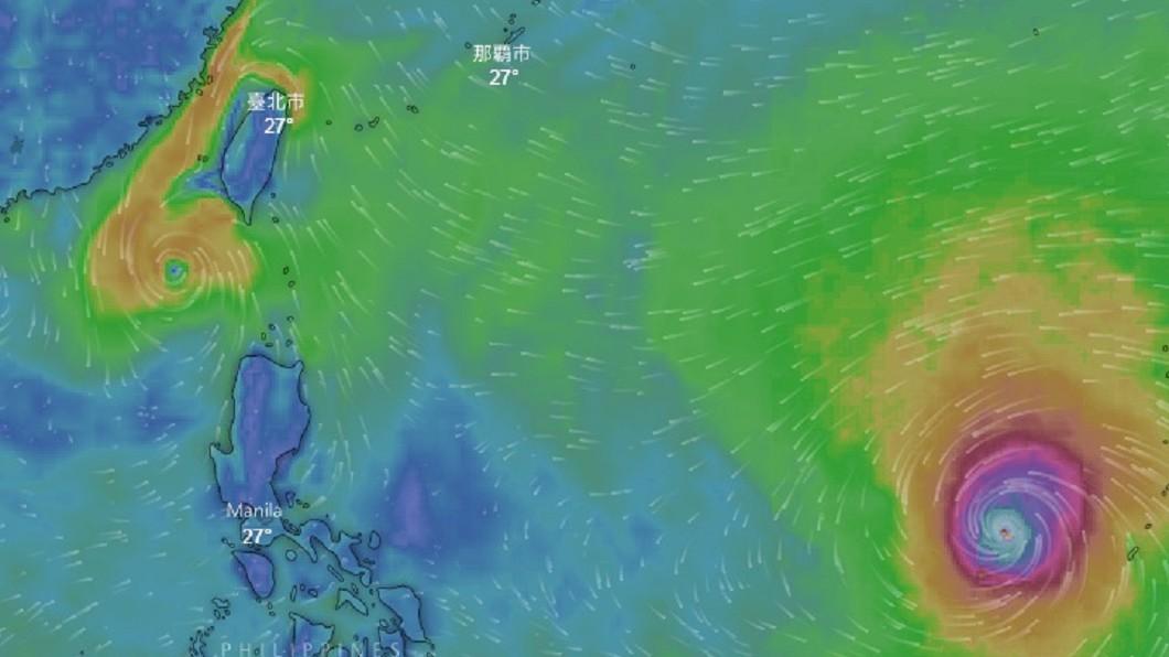 圖/翻攝自Windy 「週四最關鍵」山竹轉強颱 專家曝:台灣處危險半圓區