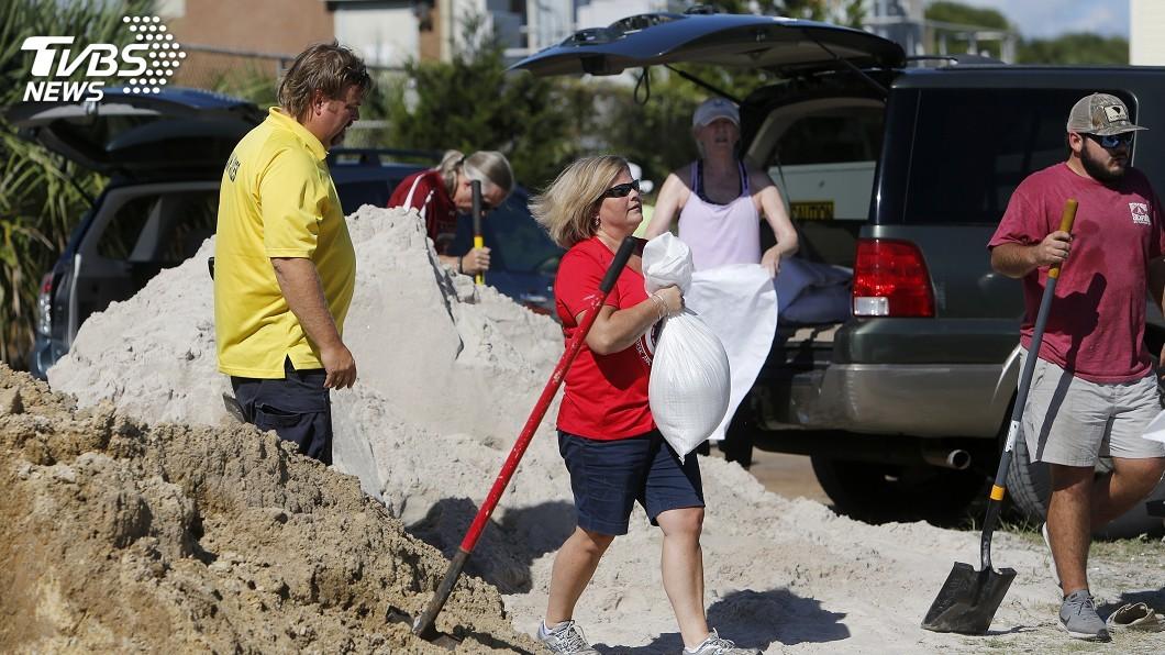 圖/達志影像美聯社 颶風佛羅倫斯撲美東 當局下令撤離逾百萬人