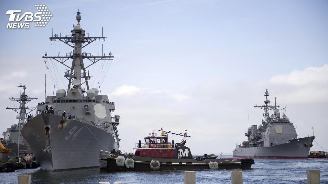 圖/達志影像美聯社 四級颶風佛羅倫斯逼近美東 美軍艦轉移避風
