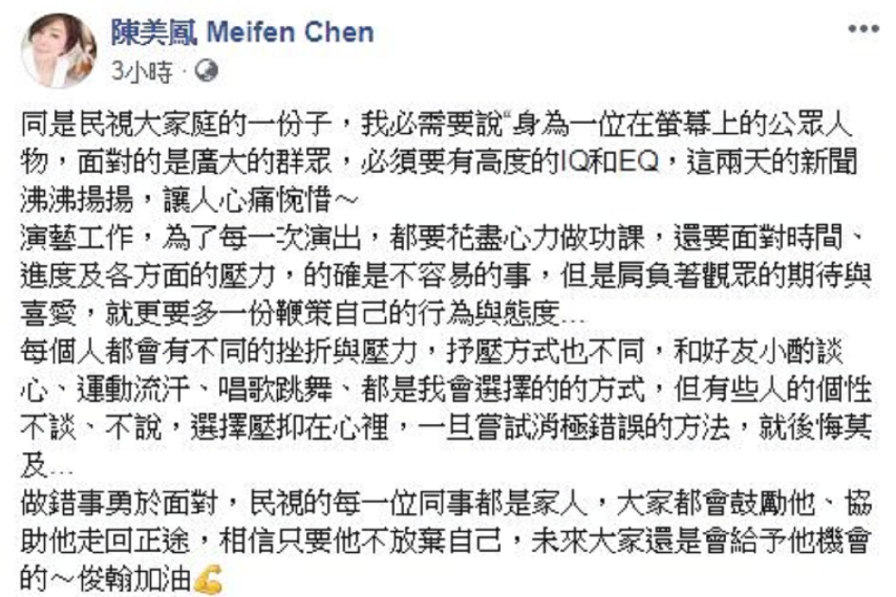 圖/翻攝自陳美鳳 Meifen Chen臉書