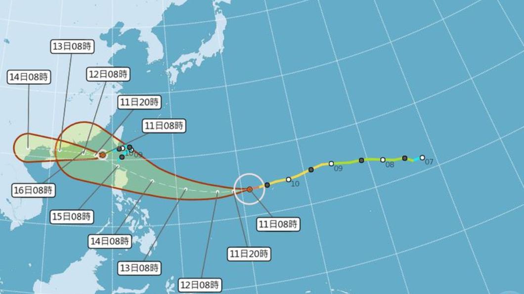 圖/中央氣象局 颱風眼清晰駭人!山竹還會再增強 東半部影響最直接