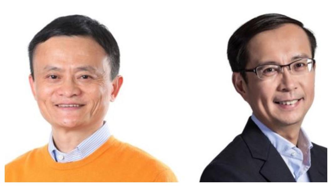 2003年阿里巴巴成立網上購物平台淘寶網;2004年,阿里巴巴成立支付寶,在中國電子商務市場推出第三方擔保交易服務,更名列互聯網四大發明之一。2009年,淘寶、天貓分拆,CEO張勇(右)創意在馬雲(左)力挺下開創中國電商年度盛事「雙11光棍節購物狂歡」、使手機淘寶成為全球最大的移動電商平台。   圖/中央社