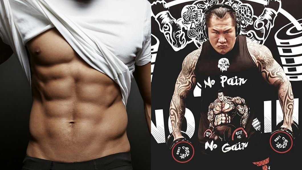 圖/TVBS示意圖(左)、翻攝自飆捍臉書(右)  堅持追求「六塊腹肌」 館長:身體健康最重要