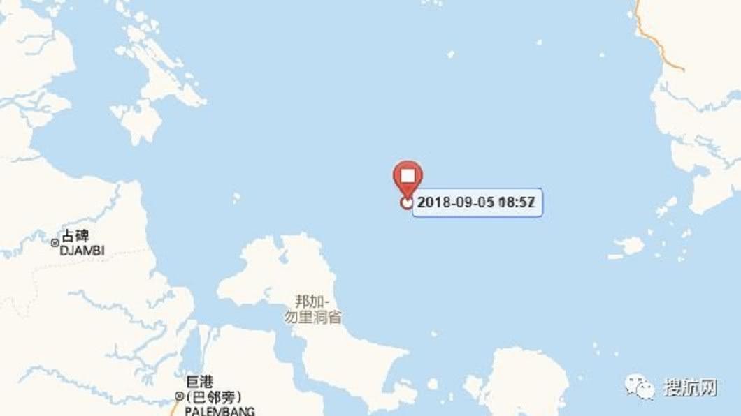 圖/翻攝自搜航網 貨物都在上面...盈春輪擱淺10天 6家船公司挫在等