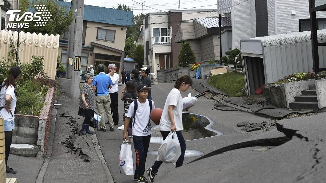 圖/達志影像美聯社 北海道強震一週 民眾避難與節電成課題