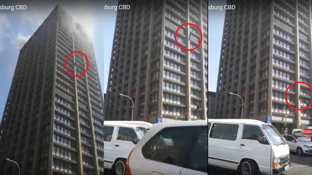 圖/翻攝自YouTube 畫面曝光!火場缺氧求一口氣 勇消慘墜23樓身亡