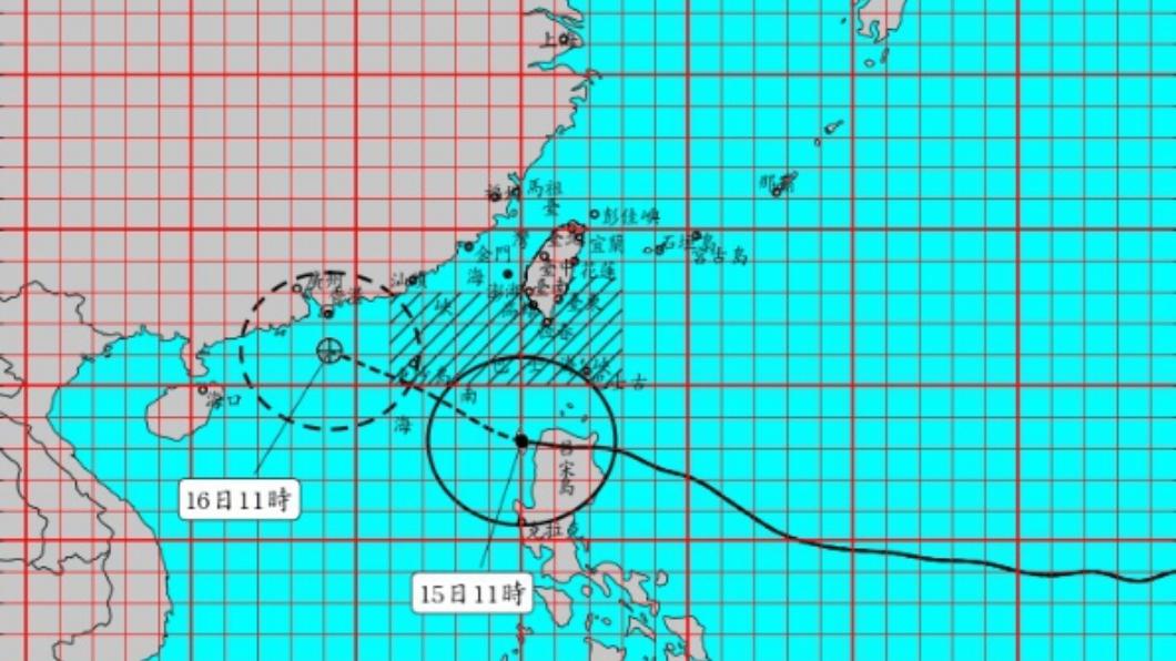 圖/中央氣象局 快訊/山竹颱風影響 蘭嶼航空站上午10:15關場