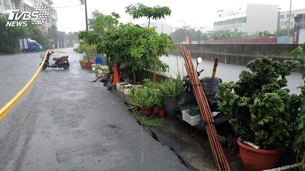 圖/中央社 台南水患肇因先天地形 淹水難消失