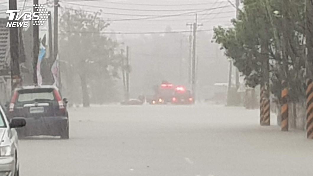 圖/中央社 地層下陷水出不去 雲林防洪分擔風險