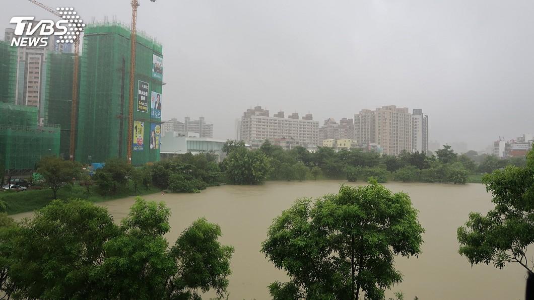 圖/中央社 823大豪雨 高市滯洪池打造「海綿城市」有效用