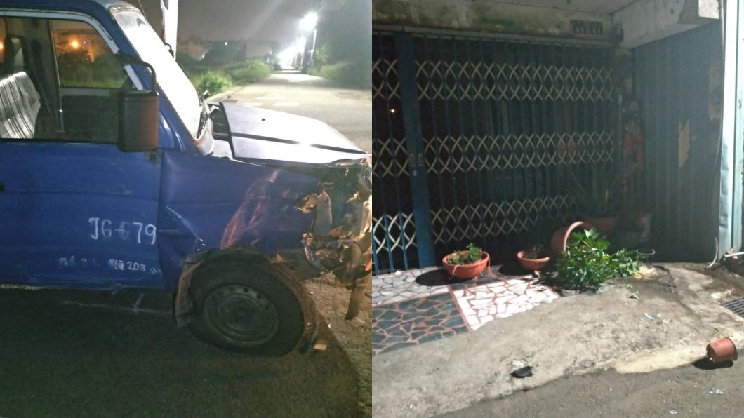 圖/TVBS 開車衝撞5戶人家 男酒測達1.89「麻醉到死亡狀態」