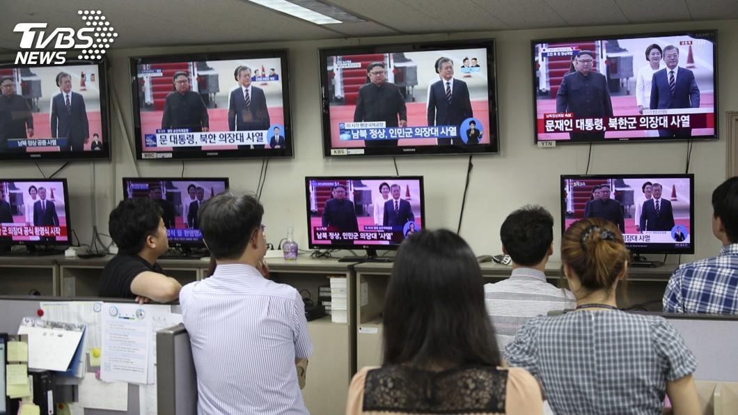 圖/達志影像美聯社 文金三會在平壤 首爾市民期盼好結果