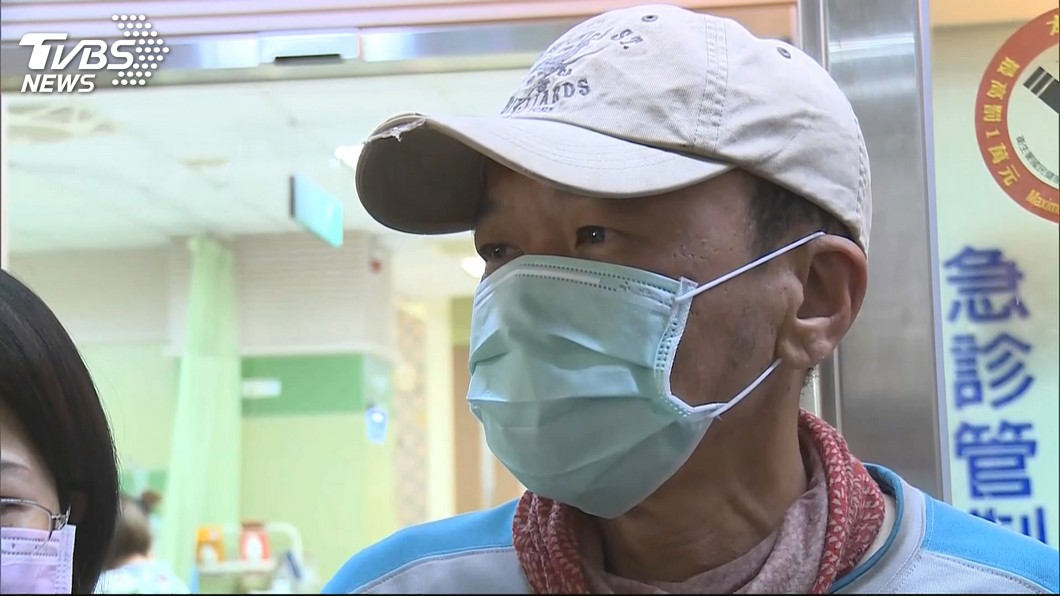 圖/TVBS 夫救登山客反受困 警消妻痛批渾蛋:你賠不起我老公