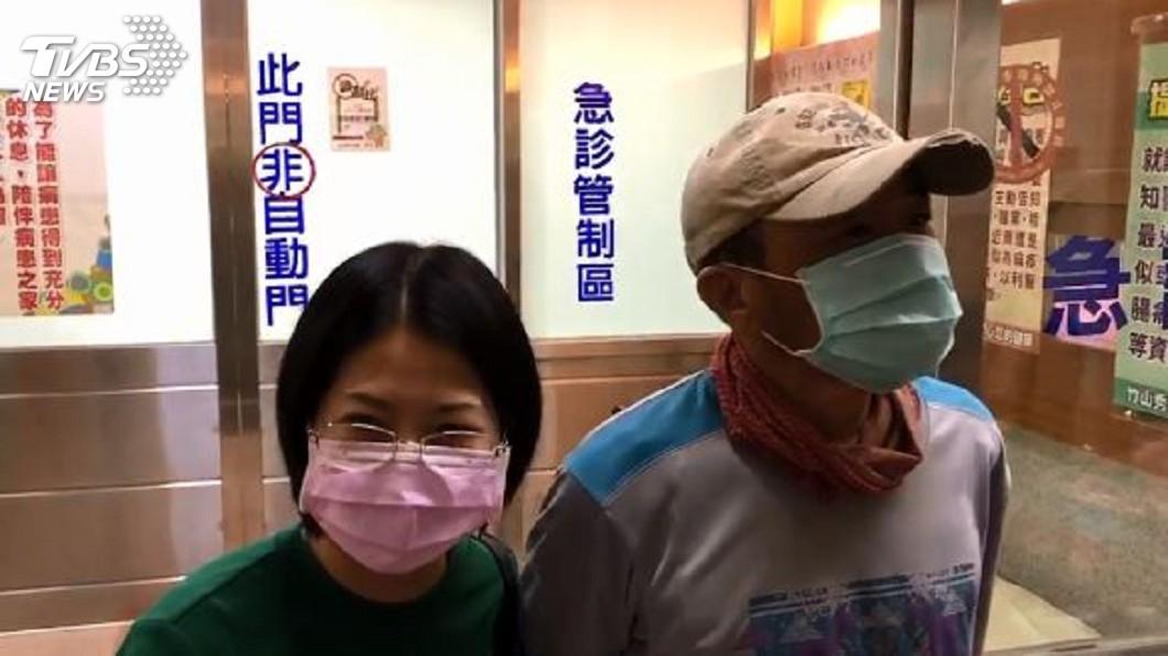 圖/TVBS 放鳥警消挨轟!妻道歉他撇視線 被追問竟說「饒了我吧」