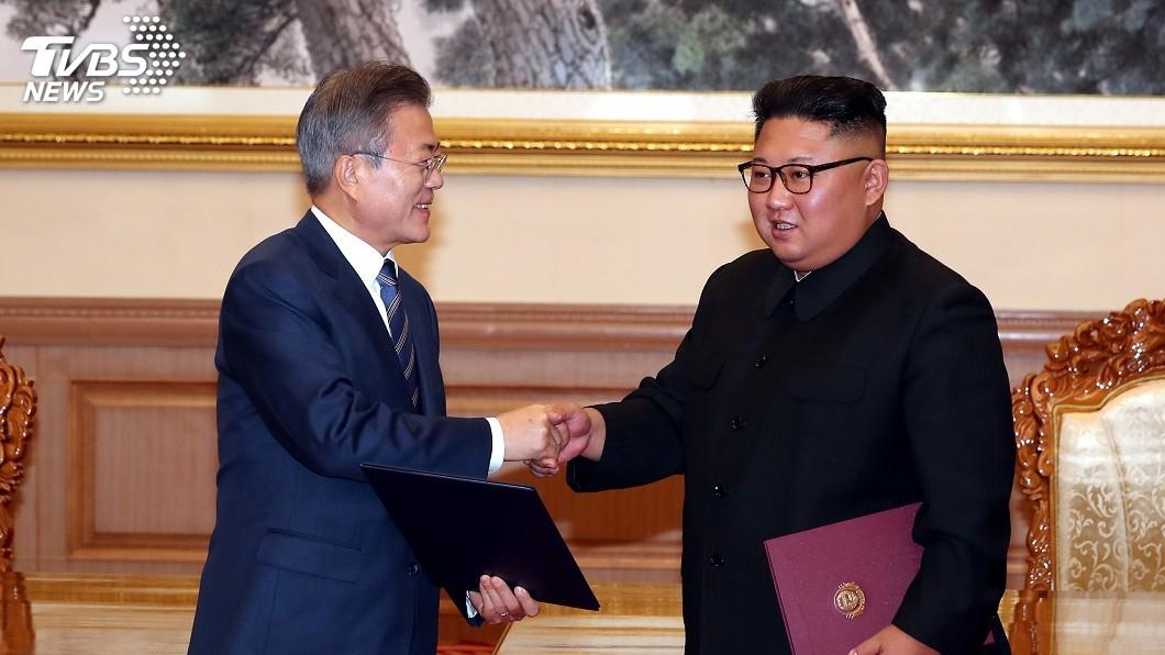 圖/達志影像路透社 文金三會重申非核化 美國務卿盼2021年完成