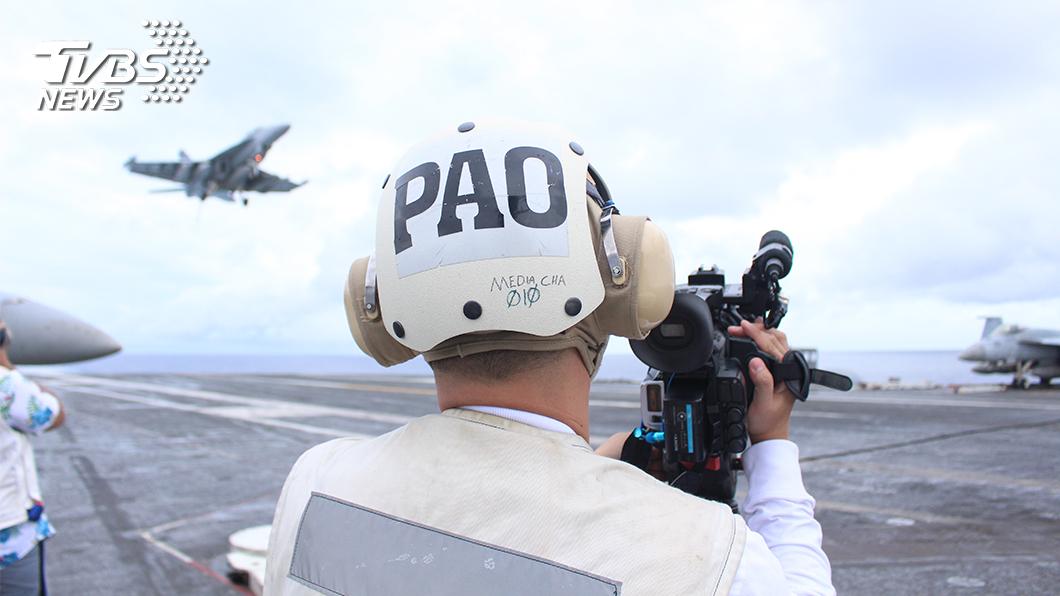 圖/TVBS TVBS獨家登雷根號 體驗航艦起降 直擊演習操練