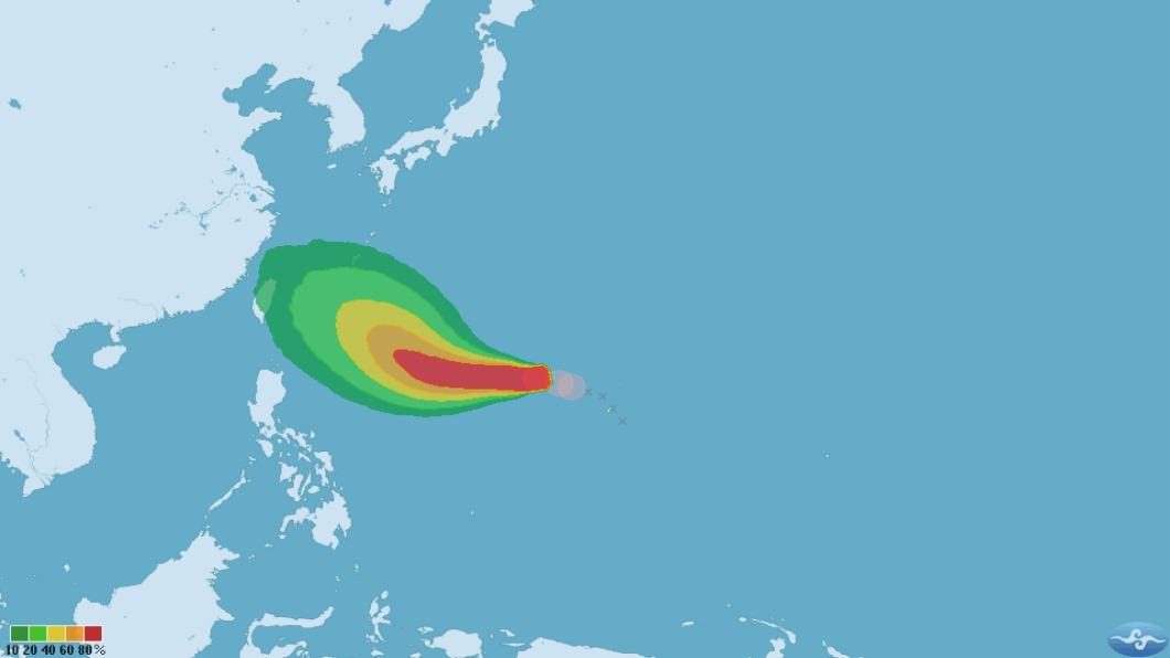 圖/翻攝自中央氣象局 潭美最快明早變中颱 一張圖秒懂各國路徑
