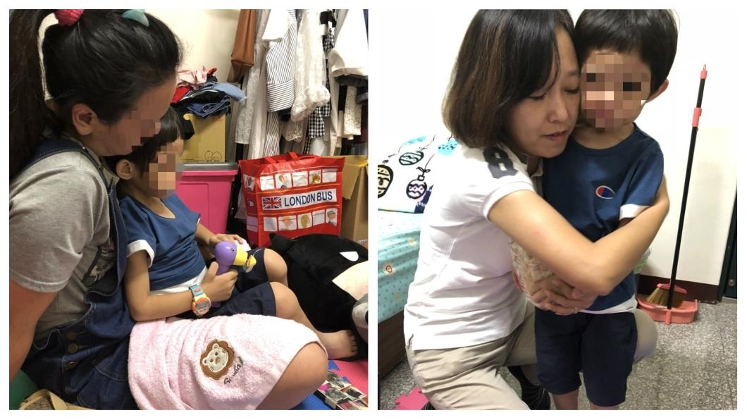 受虐男童已經安置,並且在親友的懷中安穩睡著。(圖/新竹市政府提供) 虐童案外案?友人:警方社工態度前後落差非常大