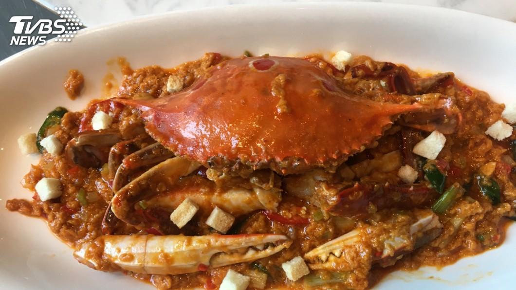 紅油咖哩炒三點蟹。圖/TVBS