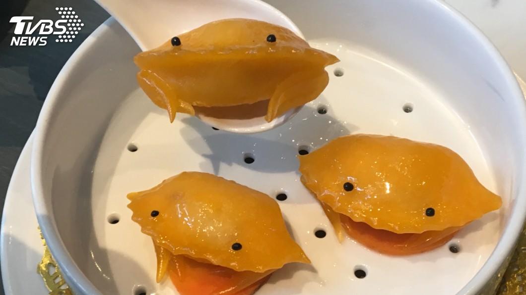 明太子蟹肉餃。圖/TVBS