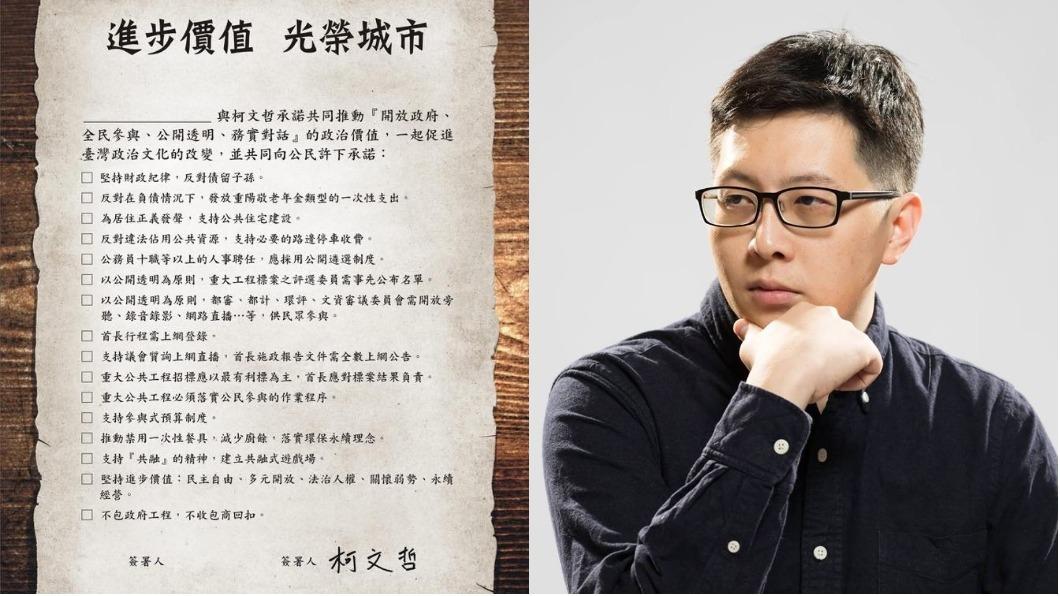 圖/翻攝自王浩宇臉書 柯辦邀簽認同卡 王浩宇:我選桃園為何要簽?