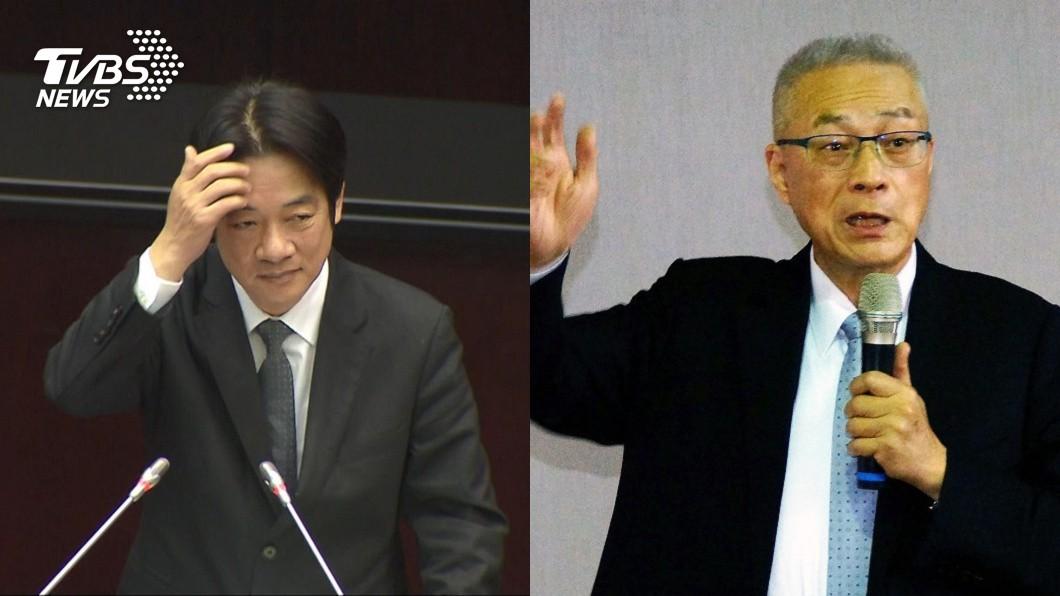 圖/TVBS(左)、中央社(右) 當高雄市長必水災? 吳敦義批賴揆:三寶別胡說八道