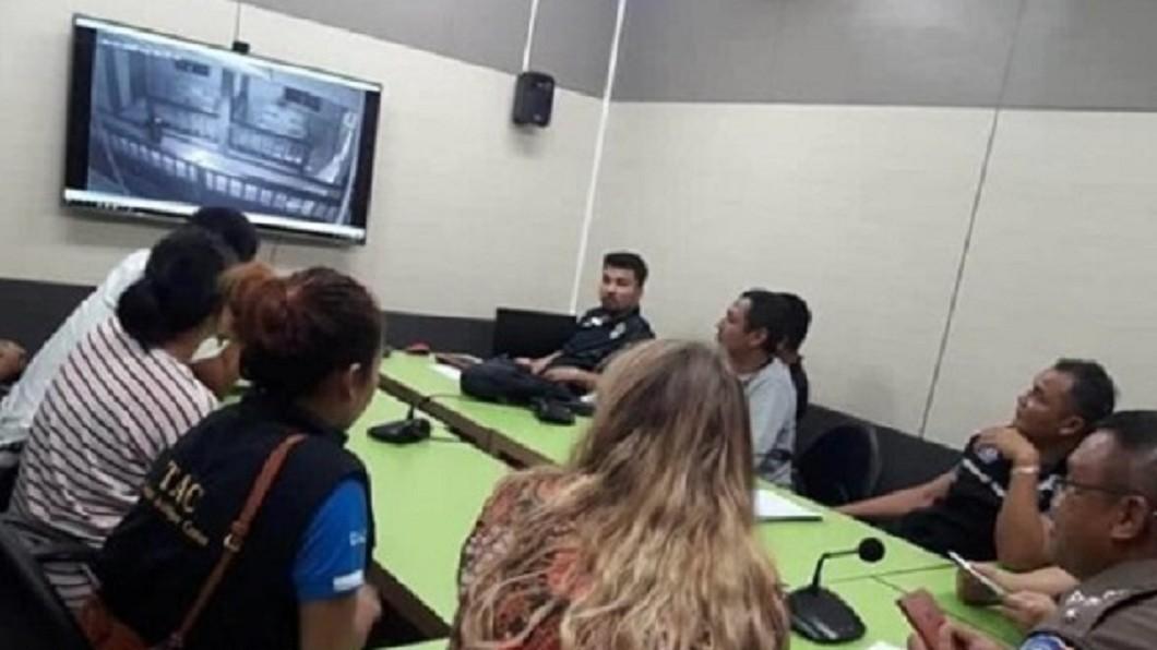 警方調閱監視器發現,根本沒有人跟隨進房間。圖/翻攝自 泰國網