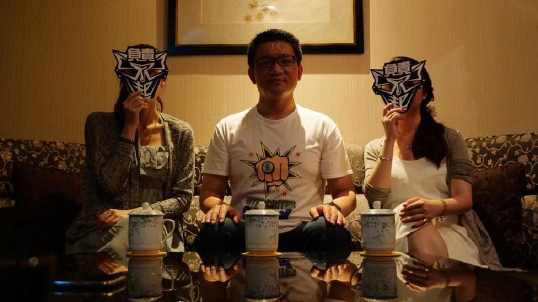 圖/ 台灣阿童─童仲彥臉書 陳致中夜奔招待所 童仲彥PO作陪照:有那麼嚴重嗎?