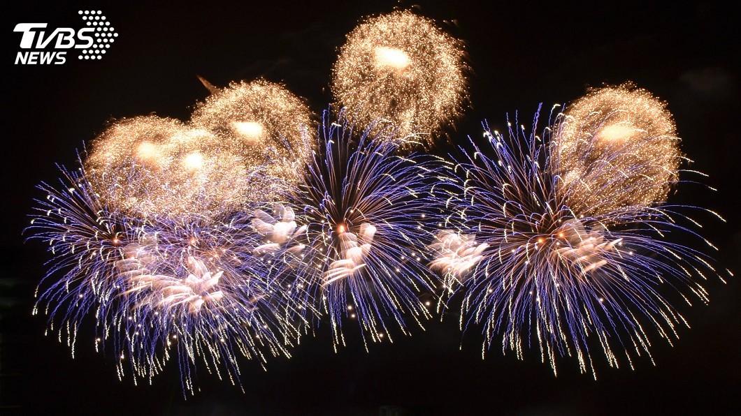 圖/中央社 歷屆最多!國慶焰火在花蓮 加碼至3萬806發