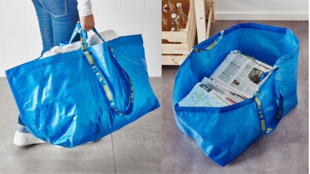 FRAKTA環保購物袋,不含袋中物品。圖/翻攝自IKEA官網