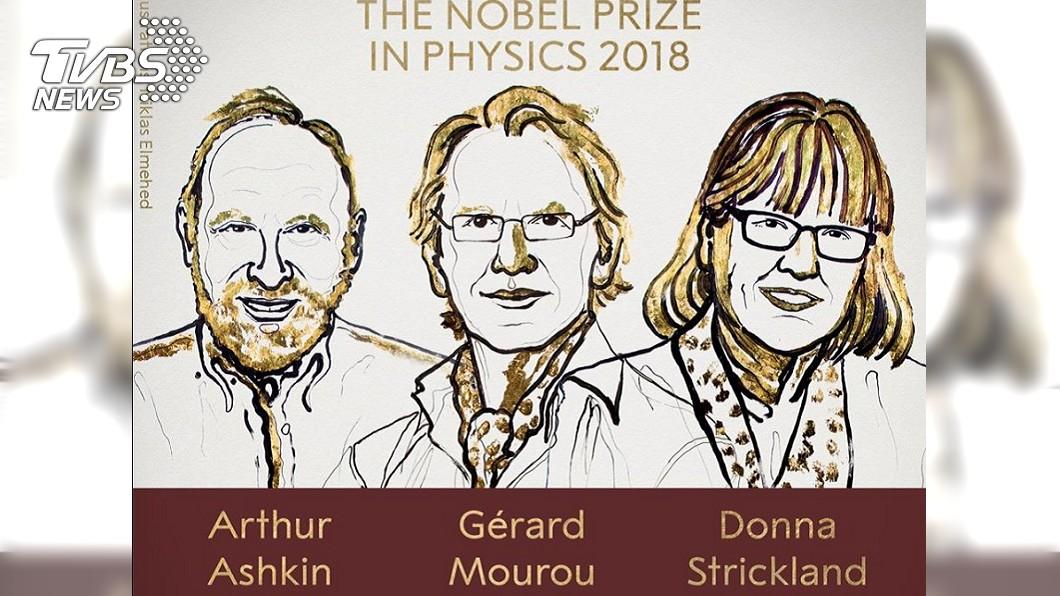 諾貝爾物理學獎得主之一的法國學者穆胡(中),還正與台大進行合作計畫中。圖/翻攝自諾貝爾獎臉書 新科諾貝爾物理獎得主穆胡 攜台學者「打造黑洞」