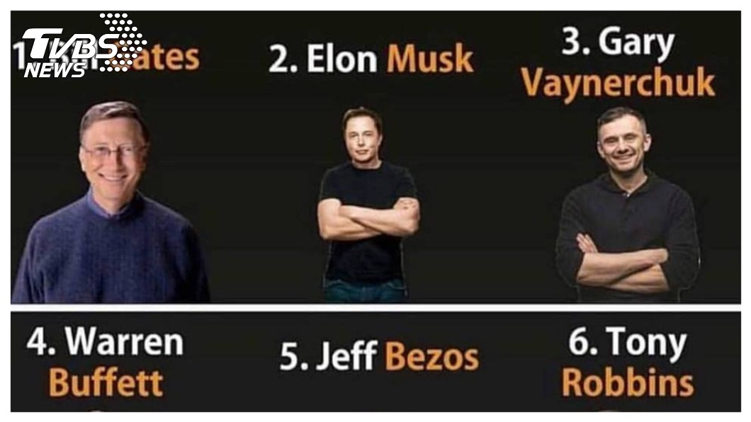 股神巴菲特曾公開批評馬斯克,認為特斯拉股價「本夢比」太高,但全美票選出「誰是你選擇成為億萬富翁的導師?」馬斯克高居第二,比第四名的巴菲特還高。    圖/馬斯克臉書