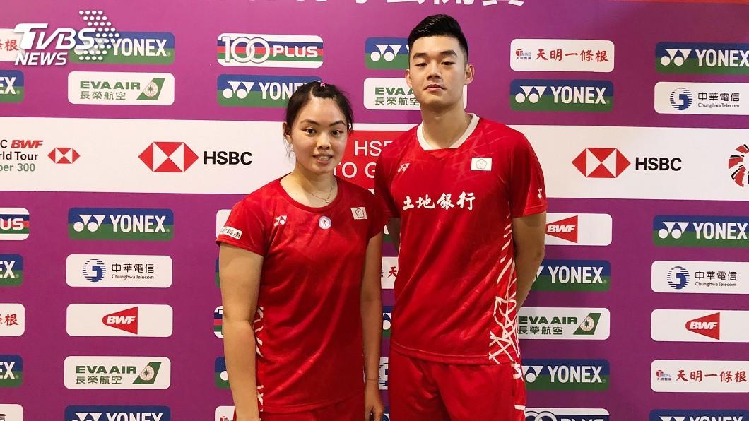 圖/中央社 台北羽賽 混雙王齊麟李佳馨、女單白馭珀闖8強