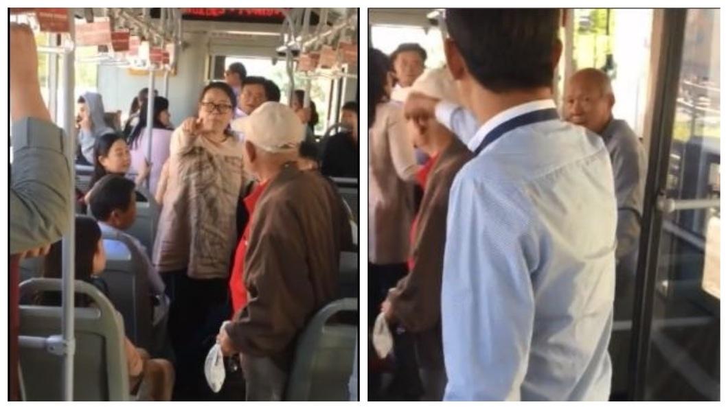 車內其他乘客連忙制止,事後還到警局幫女學生作證。(圖/翻攝自微博)