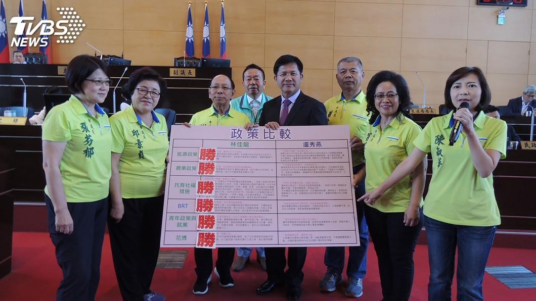 圖/中央社 綠營市議員加持 林佳龍盼連任將事情做完全