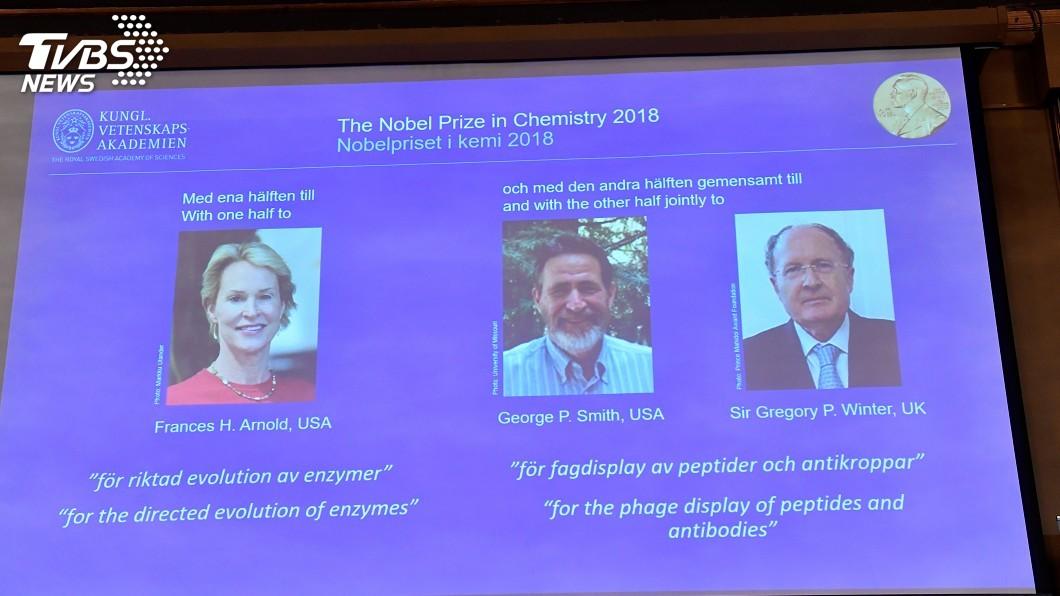 圖/達志影像路透社 諾貝爾化學獎得主 對清潔劑和抗癌藥有貢獻