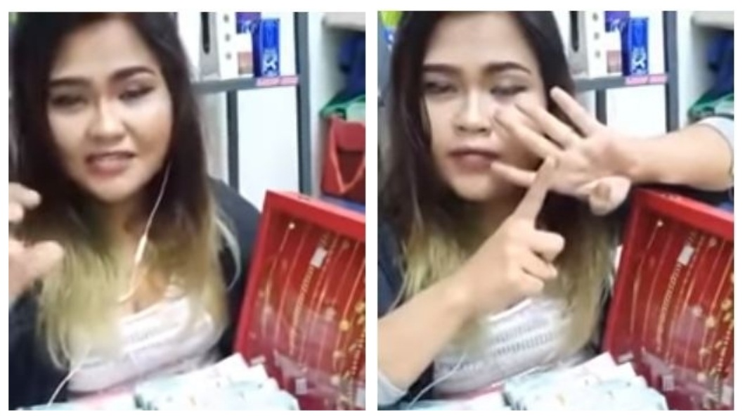 馬來西亞一名女子公開招親,但開出的對象是要有小孩的已婚男性,還稱說自己願意當小妾。(圖/翻攝自YouTube) 妙齡女「招親」…準備鈔票和金飾倒貼 限定人夫願當小妾