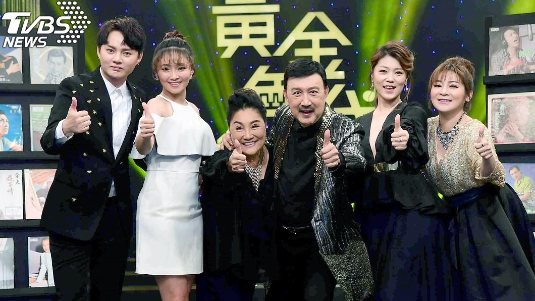 余天和王彩樺出席新節目造勢活動。(圖/中央社)