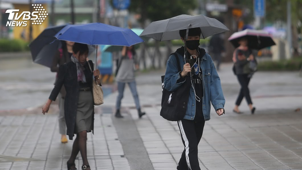 圖/中央社 低壓帶影響天氣不穩 各地留意短時強降雨