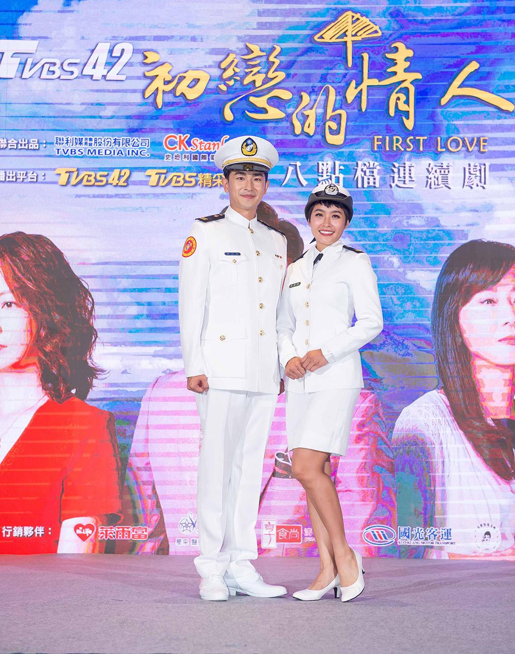 《女兵日記》演員陳謙文、小嫻力挺《初戀的情人》 圖/TVBS